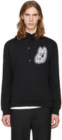 McQ by Alexander McQueen Black Bunny Be Here Now Clean Hoodie