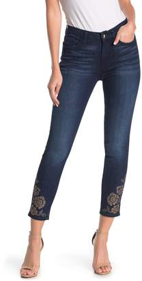 7 For All Mankind Jen7 By Ankle Studded Design Hem Skinny Jeans