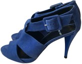 Pierre Hardy Blue Suede Sandals