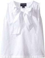 Oscar de la Renta Childrenswear - Cotton Sleeveless Bow Blouse Girl's Blouse