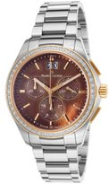 Maurice Lacroix Mi1057-Pvp22-760 Women's Miros Chrono Stainless Steel Mother Of Pearl Dial Ss Watch