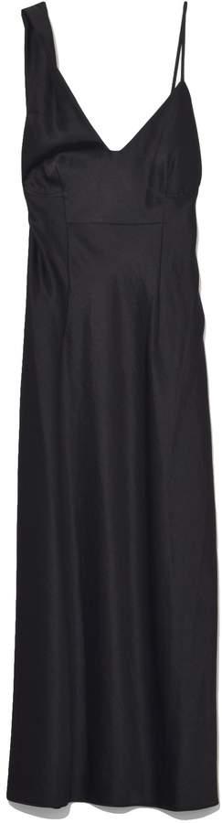 Alexander Wang Wash and Go Twist Shoulder Slip Dress in Black