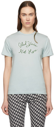 ALEXACHUNG Blue Glad Youre Not Here T-Shirt