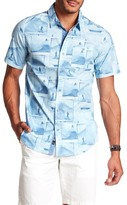 Burnside Short Sleeve Surf Print Woven Regular Fit