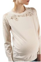 Topshop Women's Lace Detail Maternity Pullover