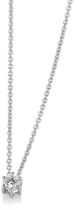 Breuning 14K Gold Diamond Solitaire Pendant Necklace - 0.15 ctw