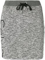 Calvin Klein Jeans logo printed mini skirt - women - Polyester/Spandex/Elastane/Viscose - M