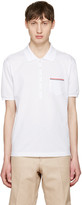 Thom Browne White Pocket Polo