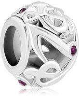 Pugster Purple Crystal Music Notes European Bead Fits Pandora Charms Bracelet