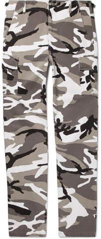 Balenciaga Slim-Fit Camouflage-Print Cotton-Twill Cargo Trousers