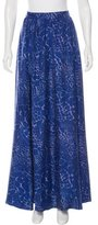 Rachel Zoe Silk Abstract Print Skirt