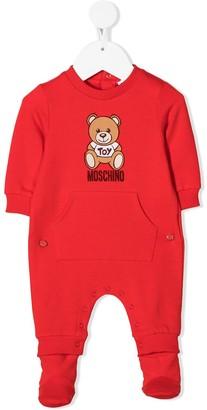 MOSCHINO BAMBINO Teddy Bear rib-trimmed pajama
