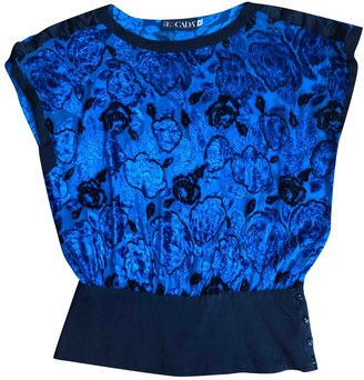 Escada Blue Silk Top for Women Vintage