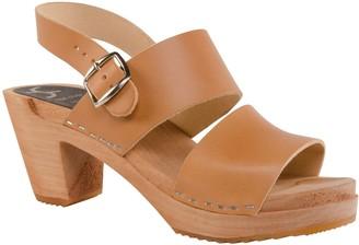 Cape Clogs Leather Adjustable Strap Sandals - Hedda
