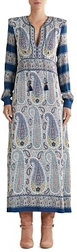 Etro Printed V Neck Shift Dress