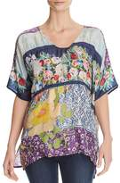 Johnny Was Golding Mixed-Print Top