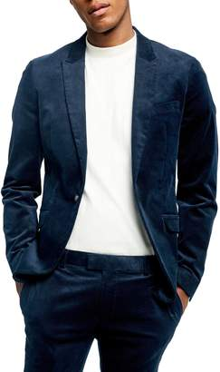Topman A-List Corduroy Skinny Fit Suit Jacket