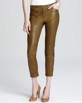 Derek Lam 10 Crosby Leather Pants - Cropped Slim Fit