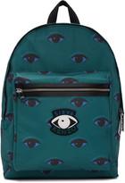 Kenzo Green Allover Eyes Backpack