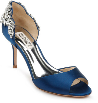 Badgley Mischka Celeste d'Orsay Satin Cocktail Sandals