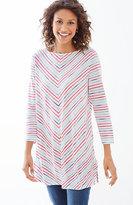 J. Jill Chevron-Striped Knit Tunic