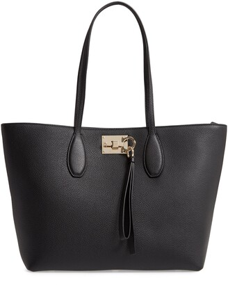 Salvatore Ferragamo Small The Studio Leather Tote