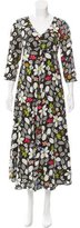 Suno Floral Embroidered Maxi Dress