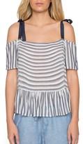 Willow & Clay Women's Stripe Peplum Top