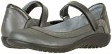 Naot Footwear Tahi (Black Velvet Nubuck/Gunmetal Rivets/Black Raven Leather) Women's Shoes