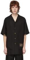 Gucci Black Linen Orgasmique Short Sleeve Shirt