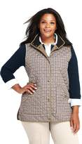 Lands'end Women's Plus Size Pattern Quilted Barn Insulated Vest
