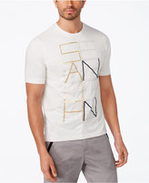 Sean John Men's Gridded Logo Graphic-Print T-Shirt