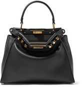 Fendi Peekaboo Medium Embellished Leather Tote - Black