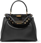 Fendi Peekaboo Medium Embellished Leather Tote - Black