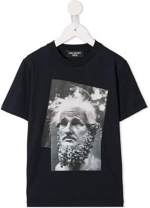 Neil Barrett Kids Einstein Marble T-shirt