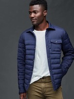 Gap ColdControl Lite stretch puffer shirt jacket
