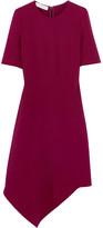 Stella McCartney Asymmetric Stretch-cady Dress - Plum