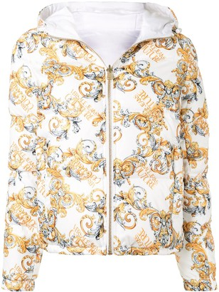Versace Jeans Couture Logo Print Puffer Jacket