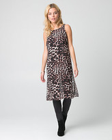 Le Château Animal Print Chiffon Boat Neck Slit Tunic