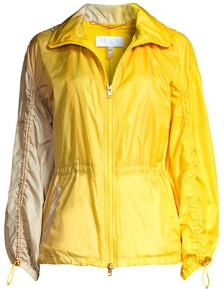 Escada Sport Two-Tone Zip Hooded Windbreaker