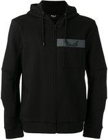 Fendi patch hooded sweatshirt - men - Cotton/Polyester - 48