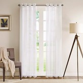 "Nobrand No Brand Aida Curtain Panel - White (50""x84"")"