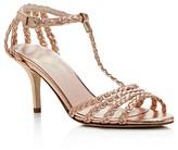 Kate Spade Sullivan Metallic Leather Braided High Heel Sandals