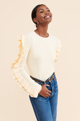 ENGLISH FACTORY Ruffle Sleeve Sweater