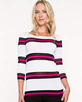 Le Château Stripe Jersey Knit Top