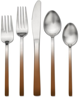 Hampton Forge Skandia Moorland Accents Copper 20-Piece Flatware Set