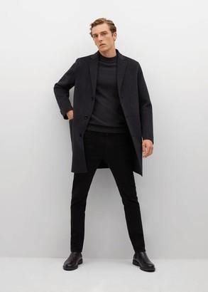 MANGO MAN - Cotton Perkins neck sweater charcoal - S - Men