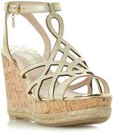 Biba KATIA LASERCUT HIGH WEDGE SANDALS