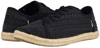 Toms Lena (Black Arrow Embroidered Mesh) Women's Lace up casual Shoes