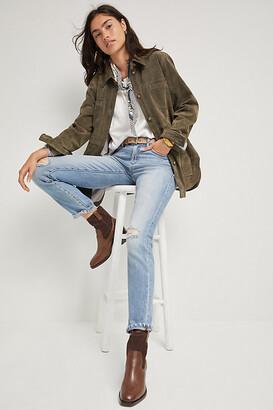 Pilcro And The Letterpress Pilcro Mid-Rise Slim Boyfriend Jeans By in Blue Size 32
